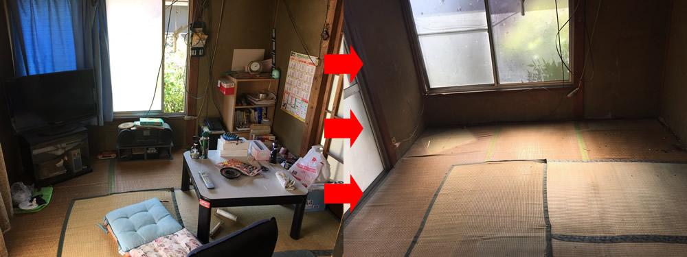 【藤岡市】遺品整理に伴う軽トラック1台分の家財道具の回収