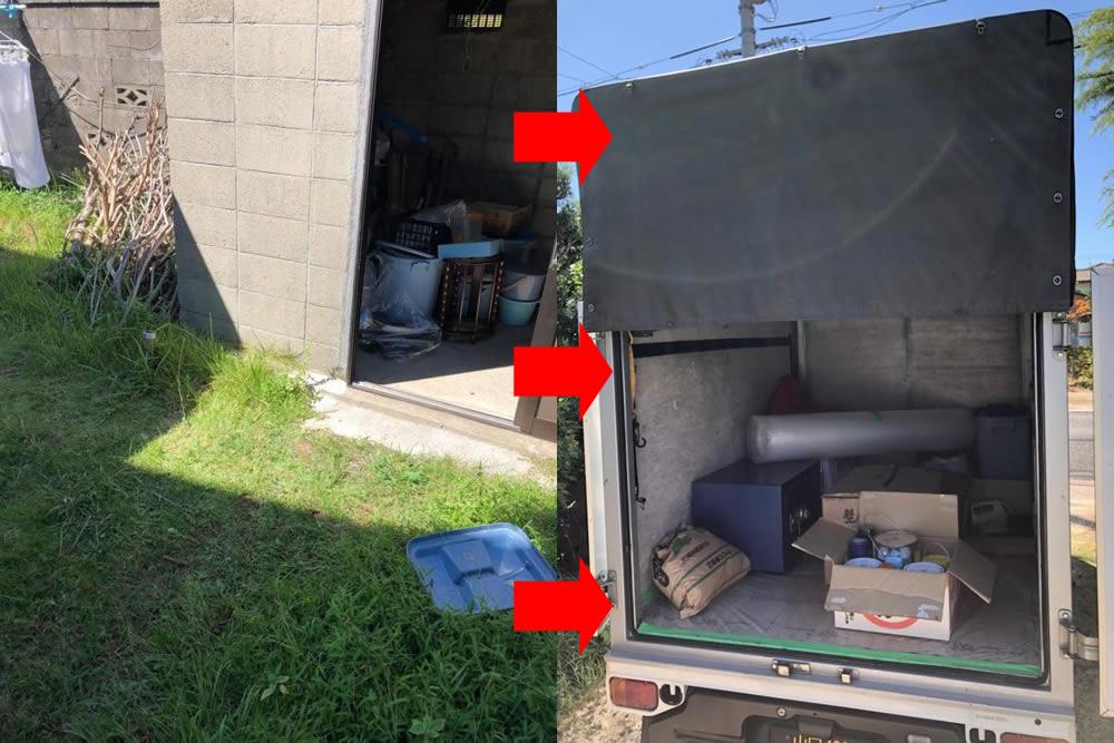 【防府市多々良】自治体では処分の難しい金庫や薬品を即日回収☆悩みを解消できたことや、素早い対応にご満足いただけました。
