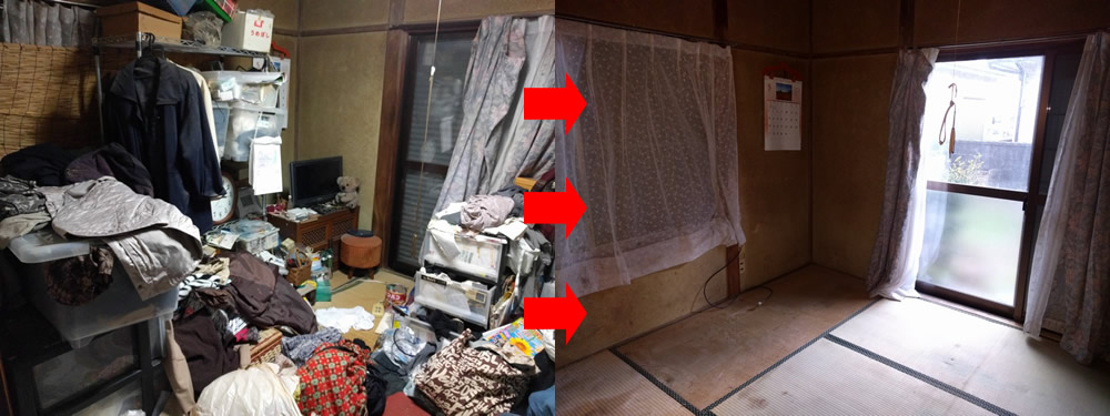 【水戸市】遺品整理に伴う6DK2階戸建からの片付け