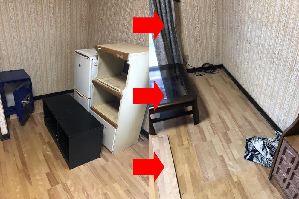 【平生町】家具や金庫の回収