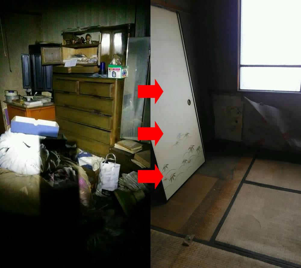 【水戸市堀町】遺品整理に伴う家財道具一式の回収
