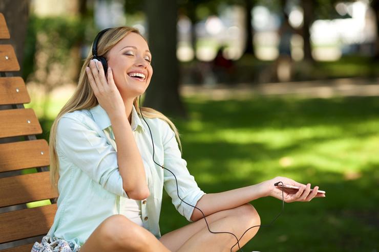 好きな音楽を聴きながら
