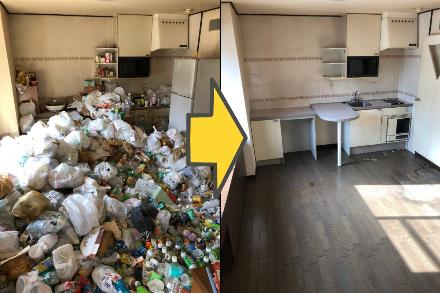 ゴミ屋敷の回収例