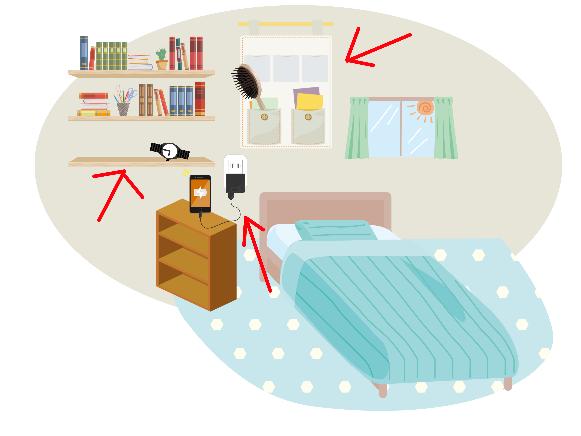 【寝室】片付け場所の確保