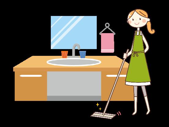 【洗面所】定期的な大掃除