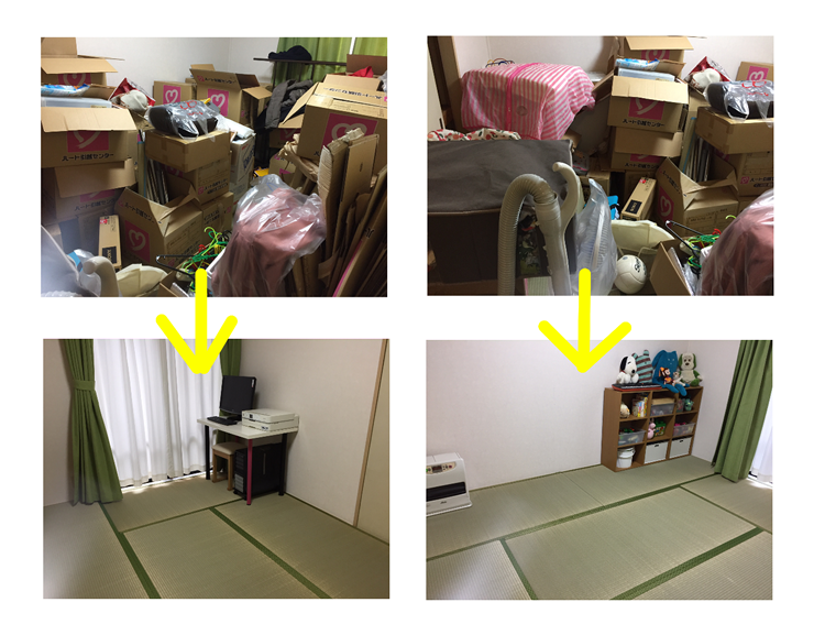 収納の方法がわからず一部屋が物置部屋になってしまったお客様
