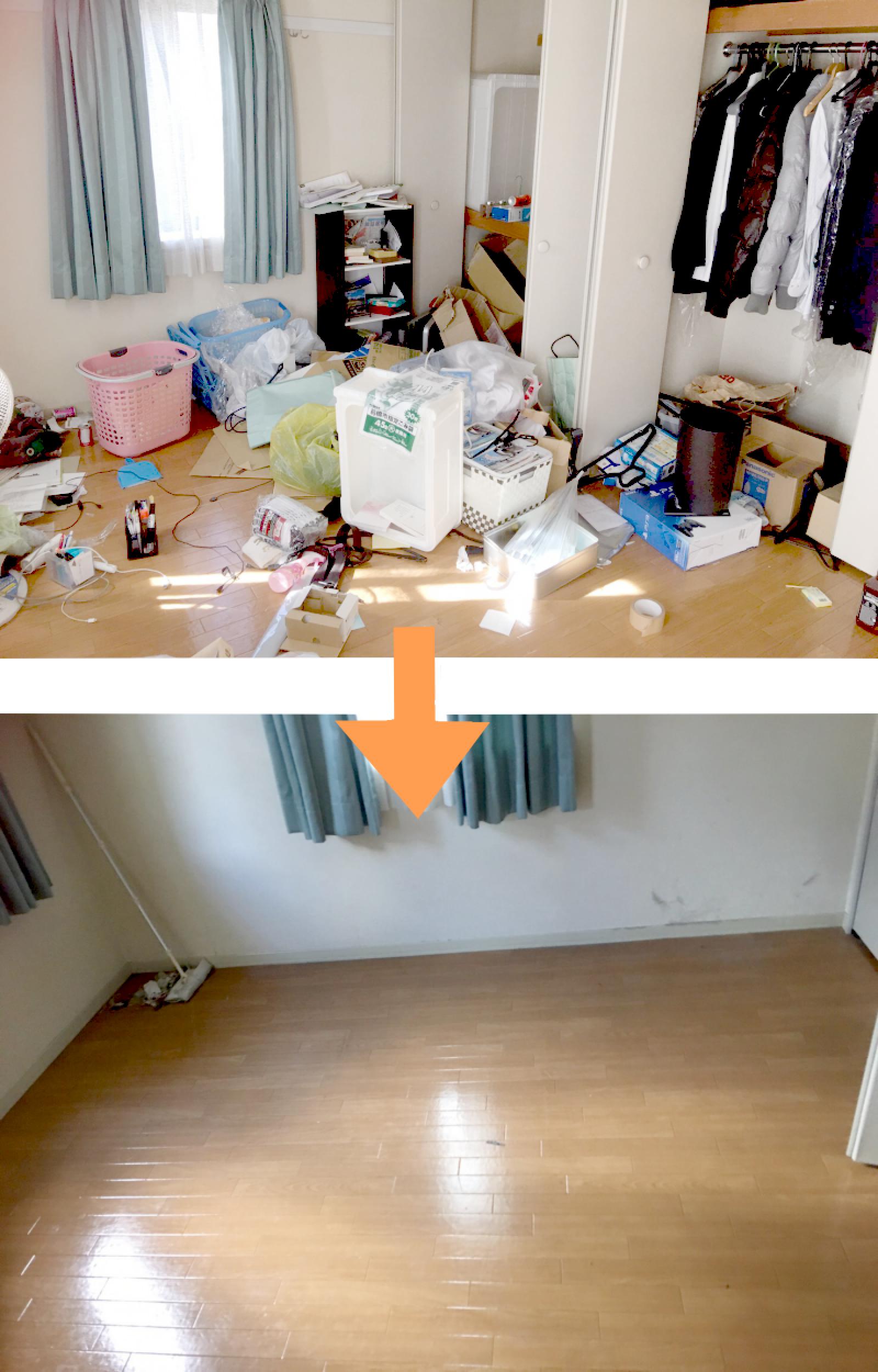 細々したゴミは手で拾わず掃除機で一気に