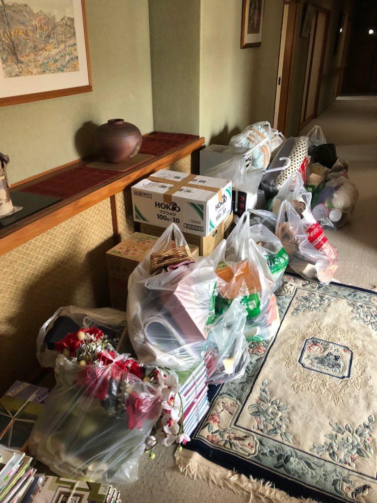 【岩国市今津町】まとめ作業から搬出作業まで丸ごとおまかせください!楽に処分できたとお客様満足していただけました。