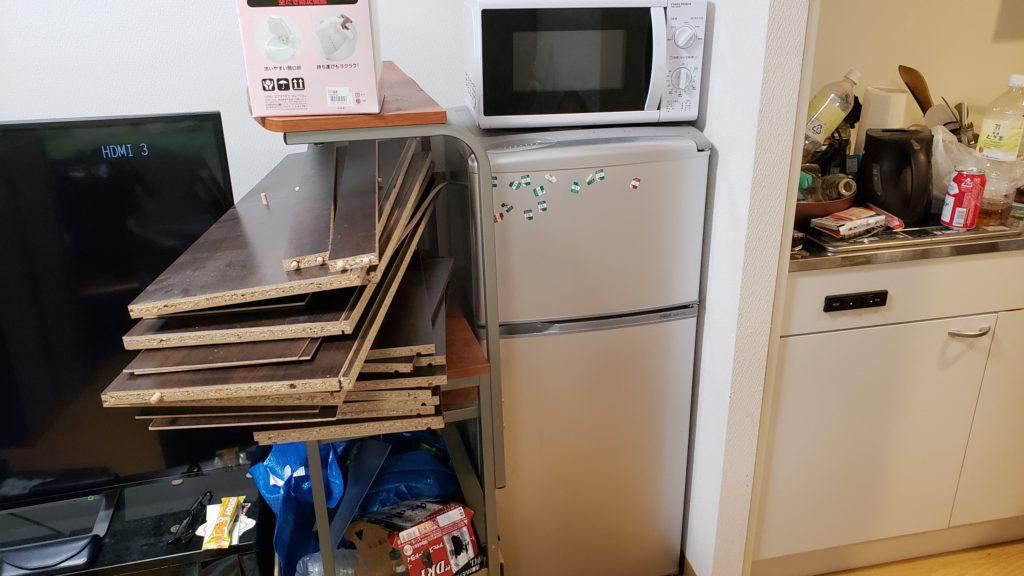 アパート1室分の不用品回収!電話ひとつで手間も時間もかけずに大量の不用品を処分できたとお喜びいただけました。