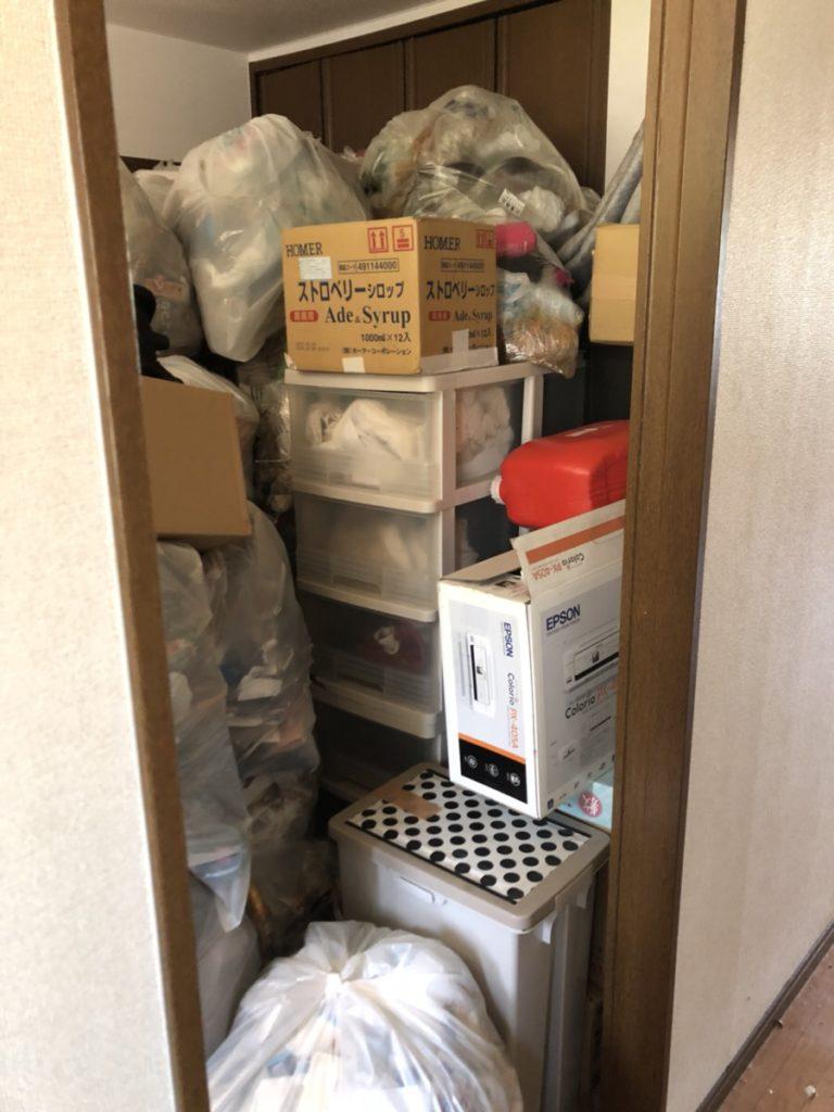 【岡山市南区】山積みになっていたごみの回収☆きれいに片付きお喜びいただけました。
