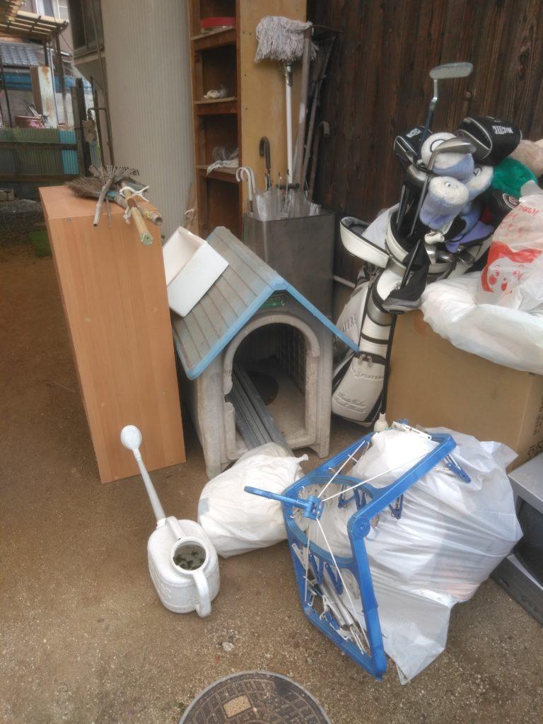 【松山市東野】家1軒分の不用品回収☆スタッフの作業の早さにご満足いただけました!