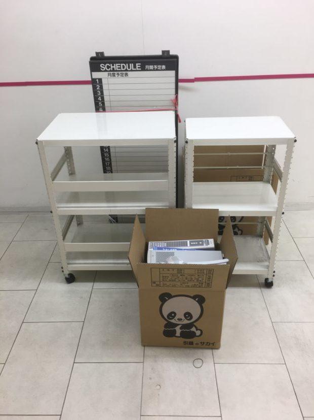 【枚方市町楠葉】金庫、事務用品の回収☆300㎏近い金庫もあっという間に回収し、忙しいお客様にご満足いただけました。