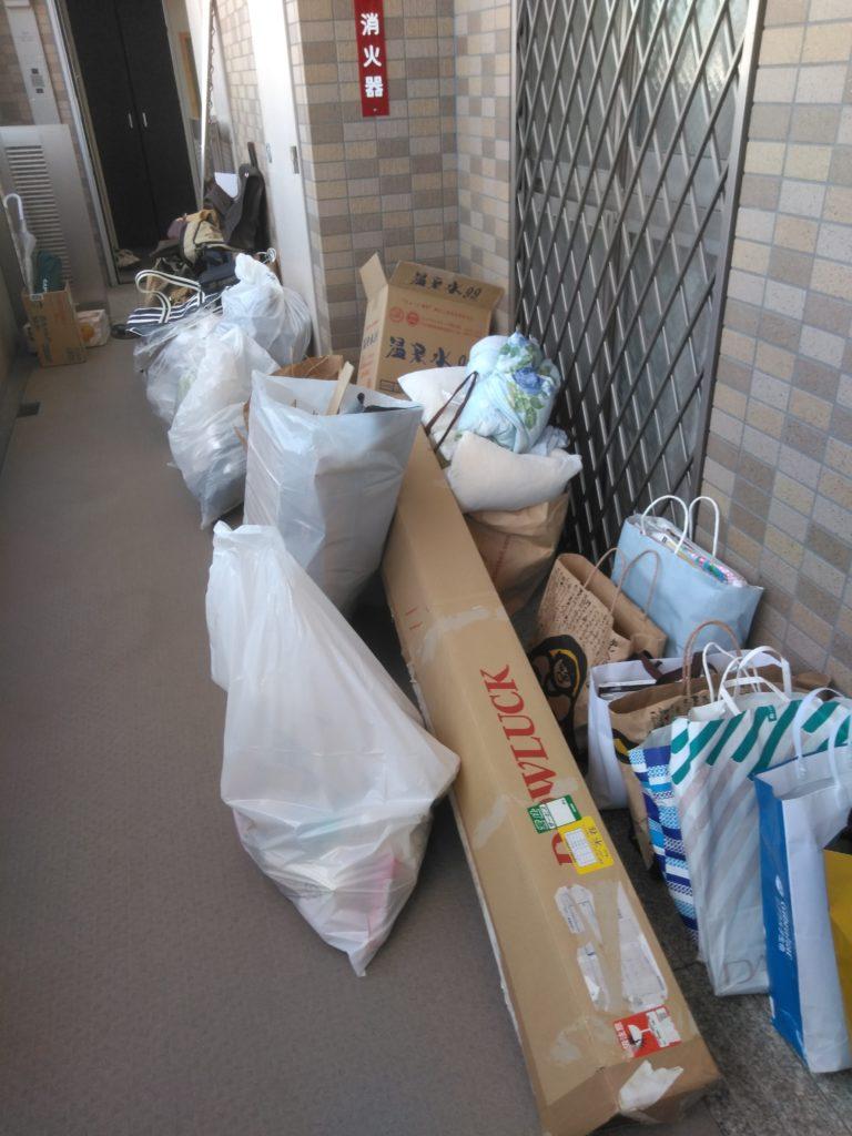 【高知市二葉町】衣類など日用品の回収☆急なご依頼にも対応でき、迅速な対応や作業の早さにご満足いただけました!