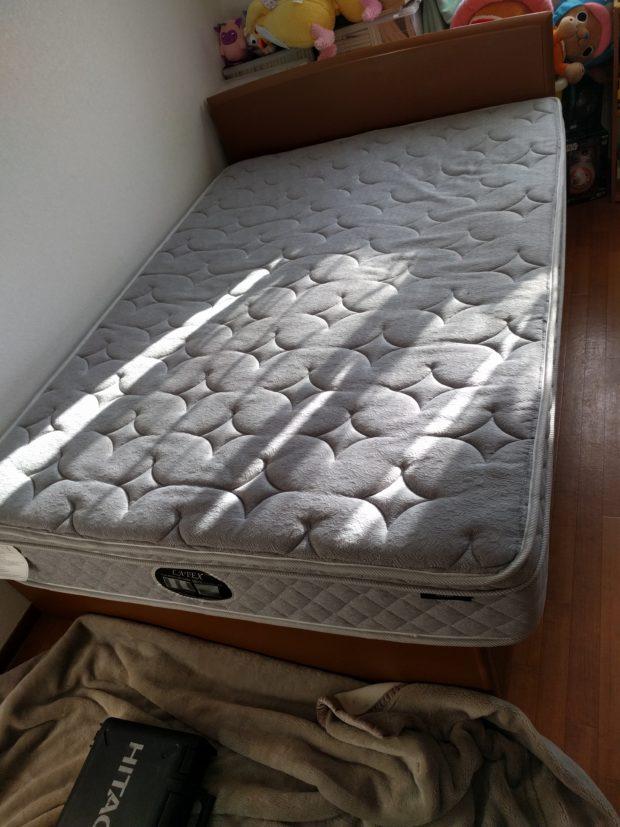 【水戸市酒門町】ベッドの回収☆お電話から1時間程度でスタッフが駆け付け、対応の早さにご満足いただけました!