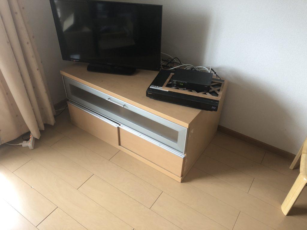 【熊本市東区】ガスコンロ、テレビボードの回収☆早めの対応で、お引っ越しを控えているお客様にご満足いただけました!
