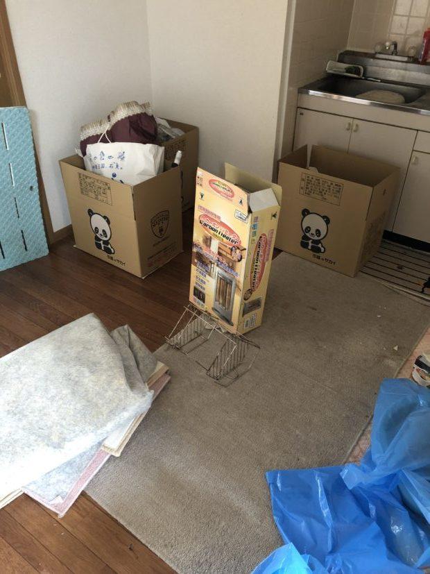 【防府市華城中央】お引っ越しに伴う不要品回収☆作業開始前に料金の説明があるため安心してお願いすることができたそうです。