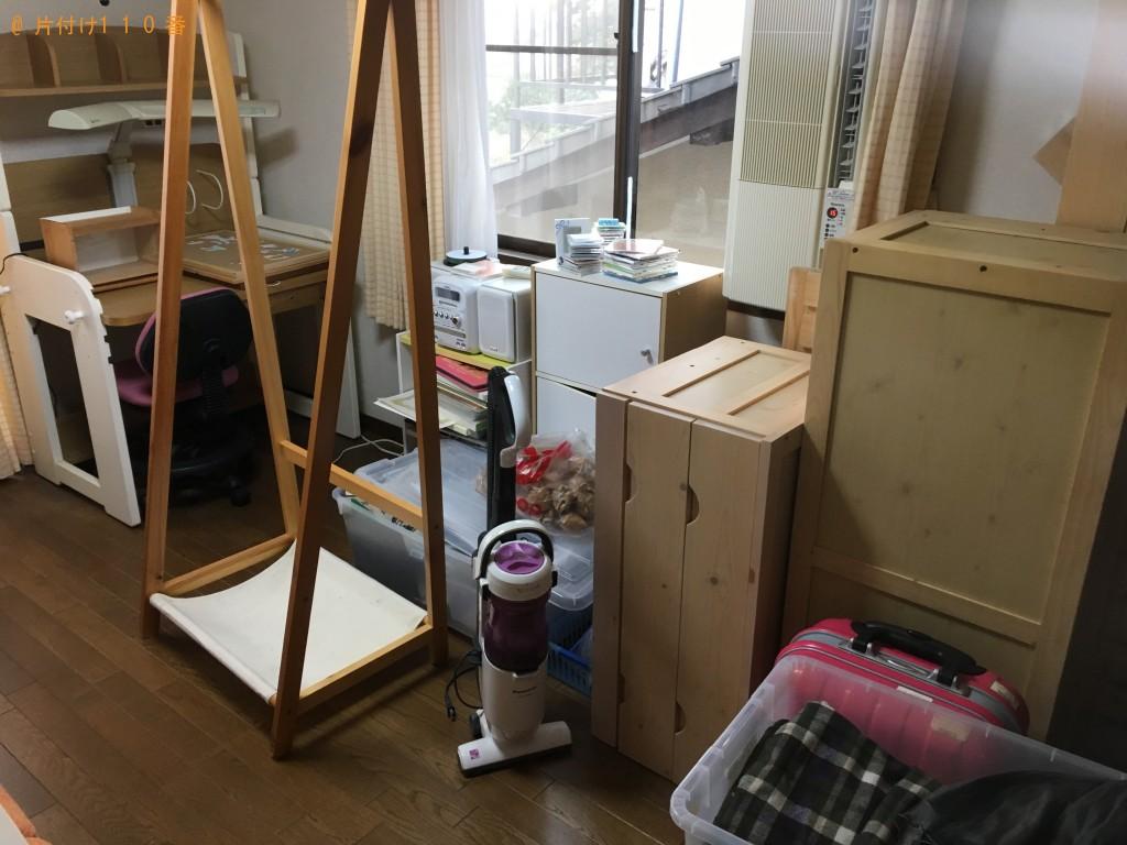 【松山市平井町】ベッドの枠、引出し、学習机回収 お客様の声