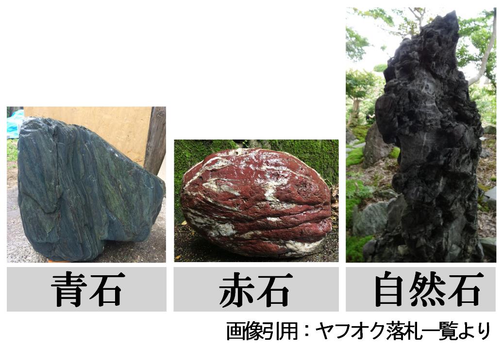 青石・赤石・自然石