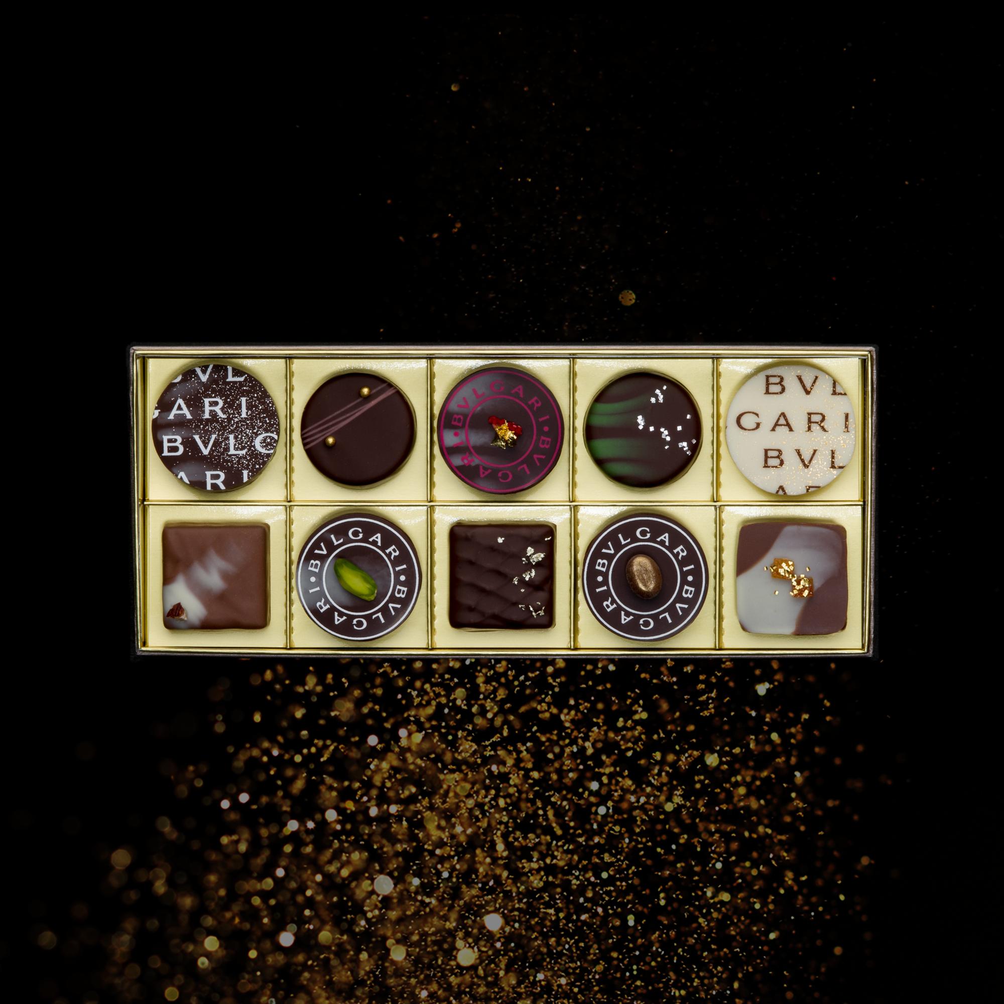 繊細!贅沢!BVLGARI チョコレート・ジェムズ 10個入