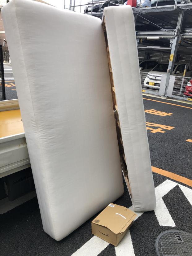 【千葉市花見川区】ベッド2点の回収☆翌日の対応で、処分を急いでいたお客様にお喜びいただけました!