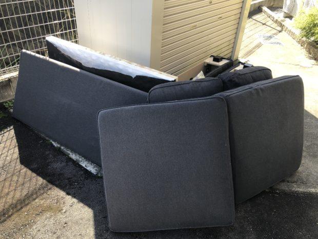 【熊本市南区】ソファーの回収☆お客様のご予算内で回収できご満足いただけました!