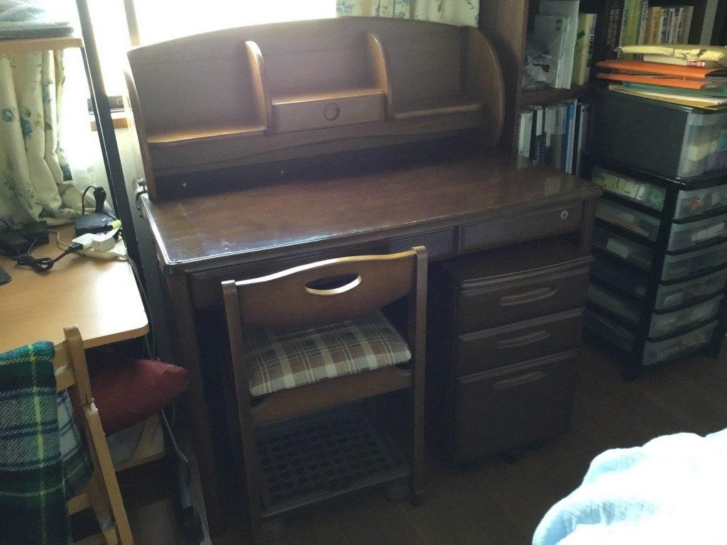 【芦屋市朝日ケ丘町】学習机と付随する椅子と引出し回収 お客様の声