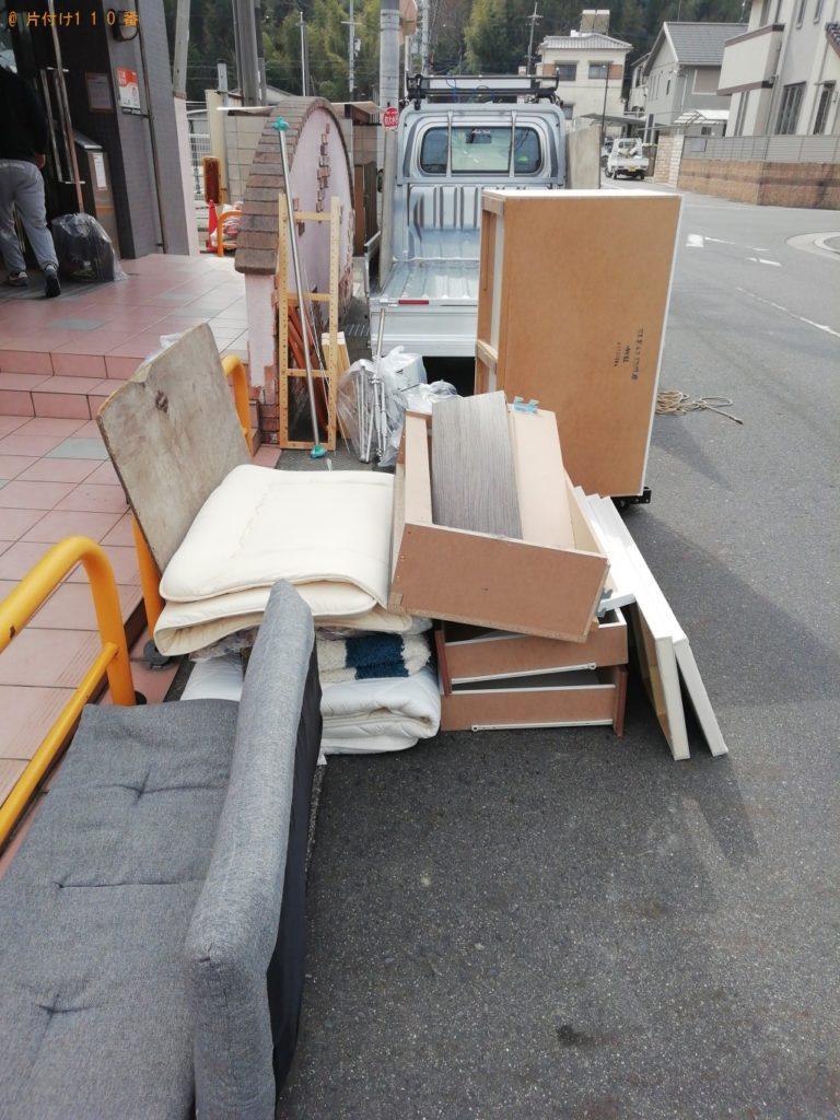 【京田辺市三山木】軽トラック1台程度の出張回収・処分ご依頼