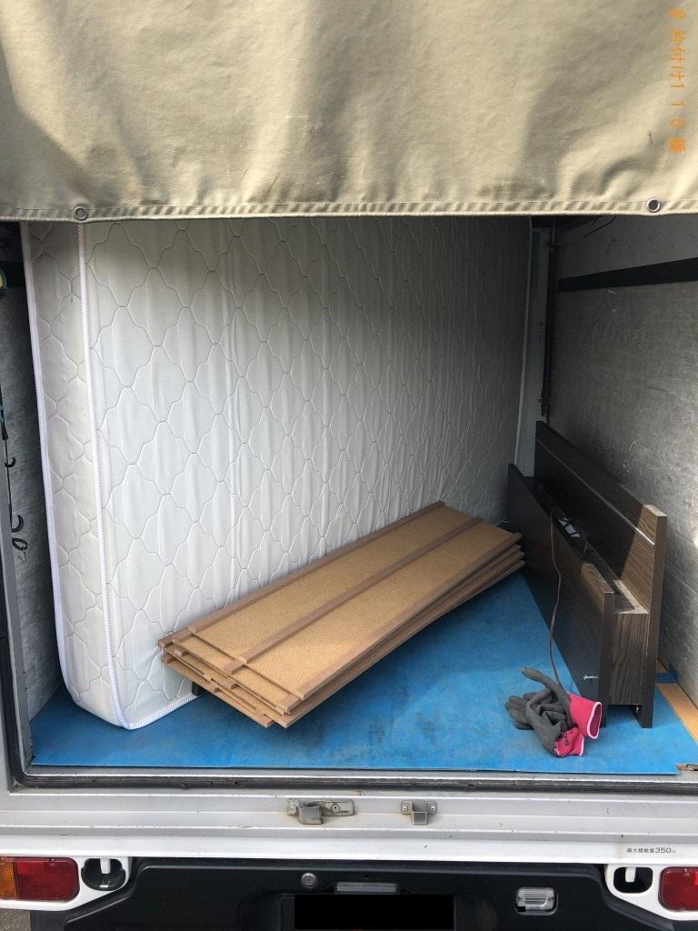 【熊毛郡平生町】シングルベッドの回収・処分ご依頼 お客様の声