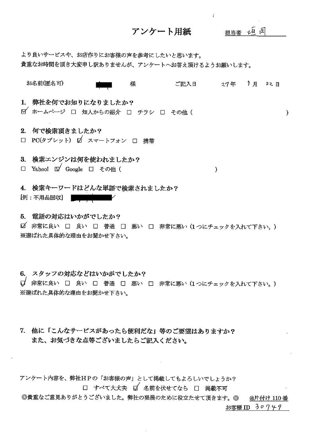 【焼津市】ゴミ屋敷の片付け お客様の声