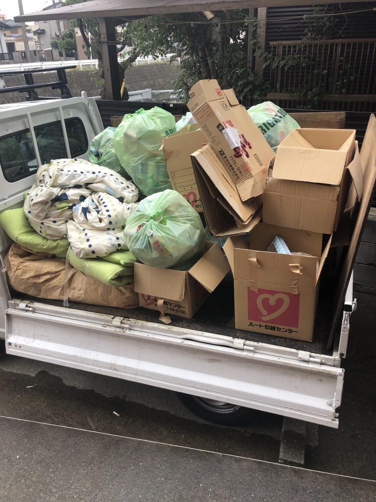 【千葉市】大量の家庭ごみや布団の回収☆缶やビンも回収してくれて助かったとご満足いただけました!
