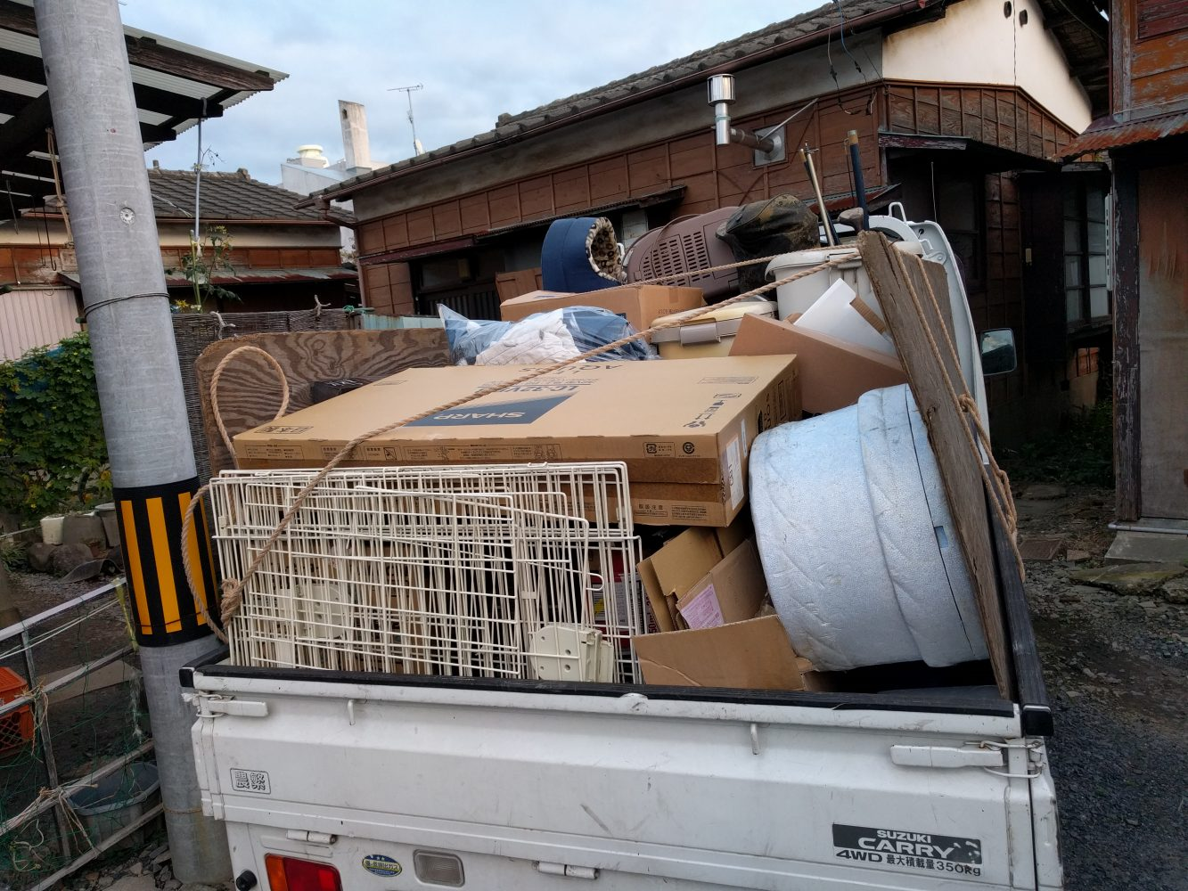 【水戸市】ご自宅の家庭ごみなどの回収☆素早い対応にご満足いただけました!