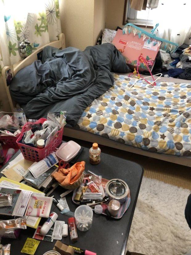 【京都市中京区】2DKのアパート1室分の不用品回収☆大量の不用品を回収し、片付けが苦手なお客様に喜んでいただけました!