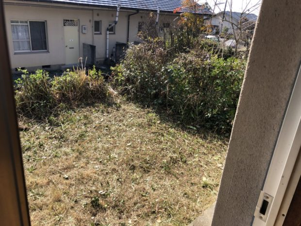 【宇城市松橋町豊福】庭木の伐採、草刈りのご依頼☆雑草が茂っていたお庭がスッキリと変わり、お客様のご満足いただけました!