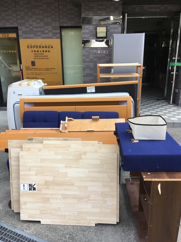 【浜松市中区】家電、ベッド、ソファなどの回収☆引っ越しに合わせて回収してくれ助かったとお喜びいただけました!