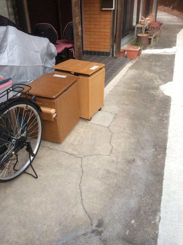 【関市】学習机の回収☆概算通りの金額・希望通りの日時での回収作業でご満足いただけました。