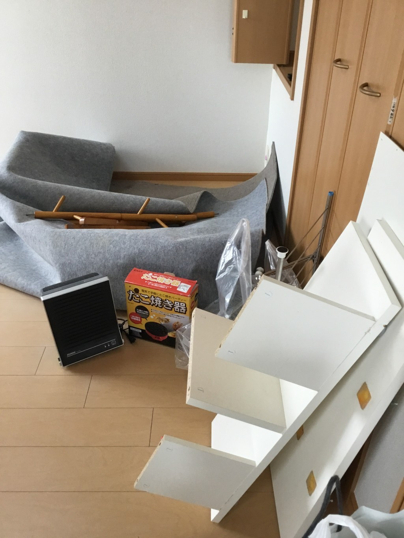 【一関市】食器棚など軽トラック1台程度の不用品回収☆スタッフの丁寧な対応に大変満足していただきました!