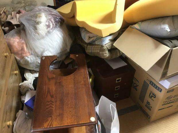 【登米市中田町】大量の不用品回収☆不用品の山がなくなり、すっきりと片付いたお部屋に喜んでいただけました!