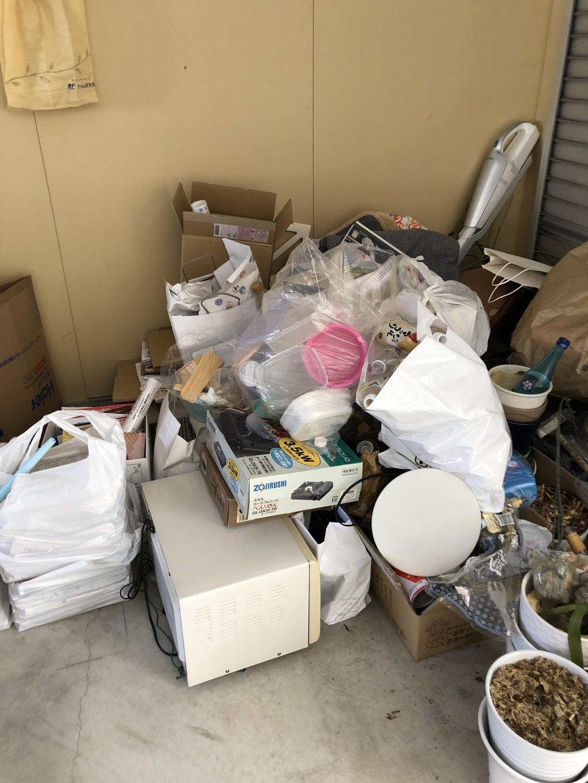 【大津市】軽トラック1台程度の不用品回収☆希望日時での対応と、自分で重いものを運ばなくて良いと喜んでいただけました!