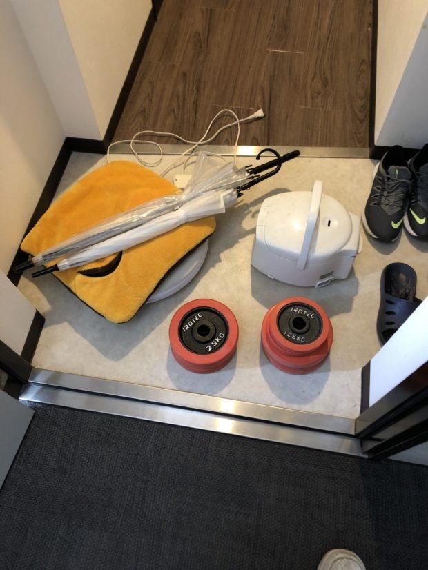 【京都市下京区】炊飯器、ダンベルなどの不用品回収☆お部屋が片付き、お客様に喜んでいただけました!