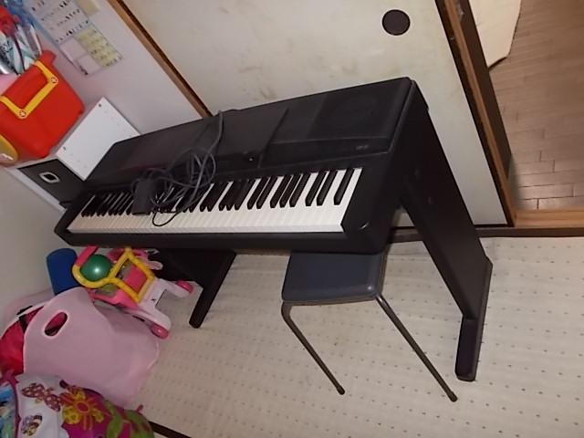 【鳥取市】不要な電子ピアノの処分☆希望日でお願いできたとお喜び頂けました。