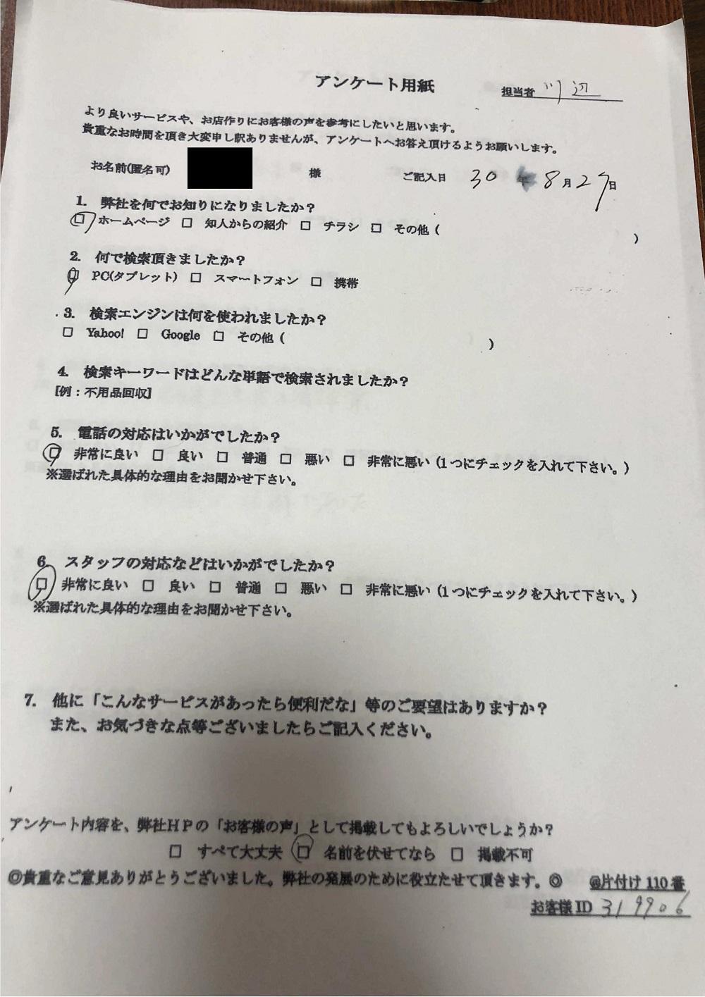 【横浜市西区】金庫の回収処分☆スピーディな搬出にご満足いただけました!