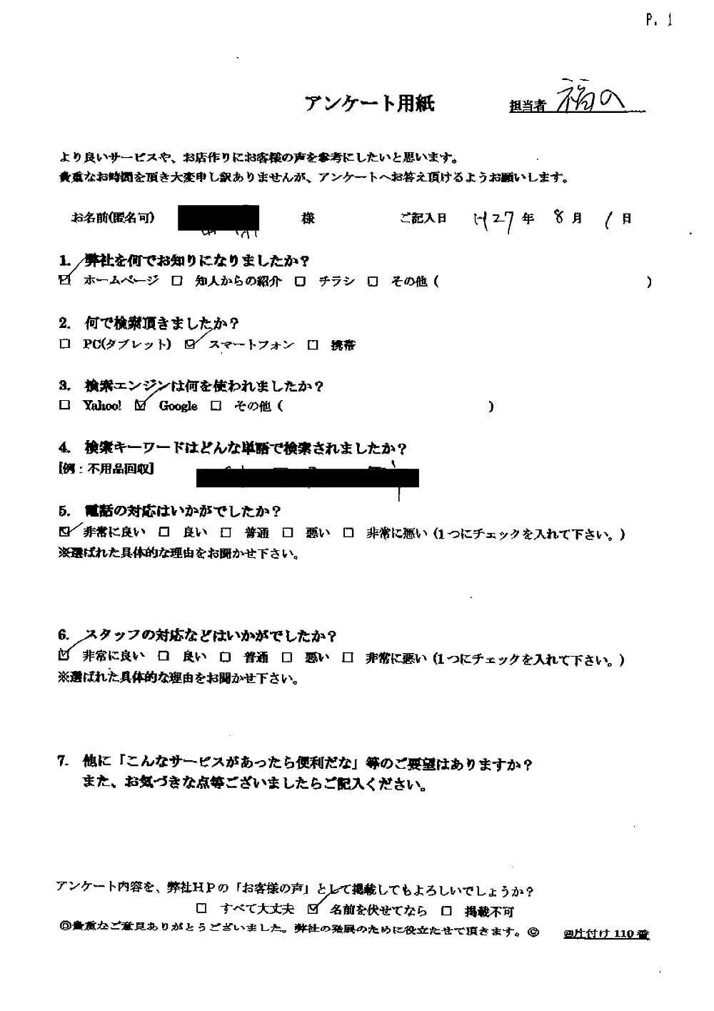 【山梨市】耐火金庫の処分☆予算内に収まりご満足いただけました!