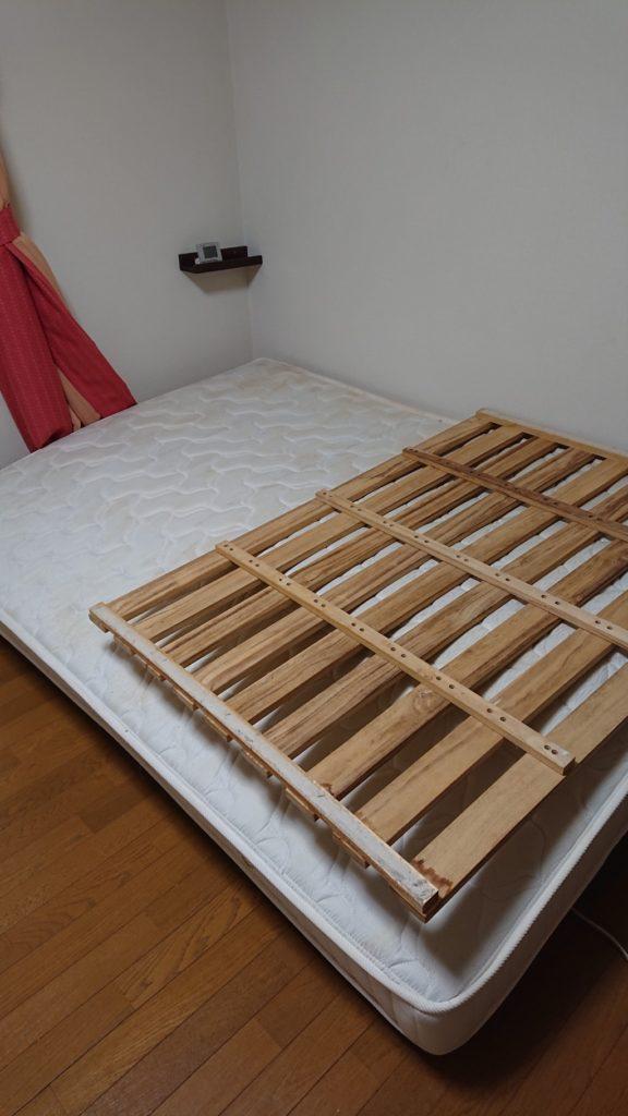 【松本市】シングルベッドなど軽トラック1台程度の不用品回収☆丁寧で素早い対応に大変満足していただきました!