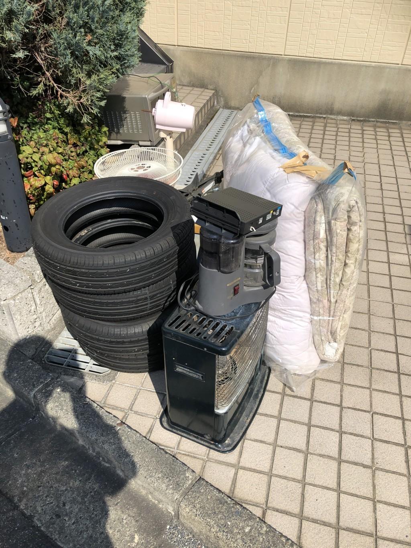 【大津市杉浦町】電気ストーブなど軽トラック1台程度の不用品回収☆お得な回収お値段にとても満足していただきました!