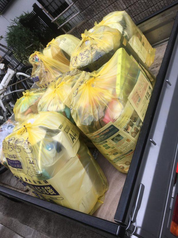 【京都市南区】家庭ごみの即日回収☆退去日当日で焦っていたお客様の不用品も回収でき、喜んでいただけました!