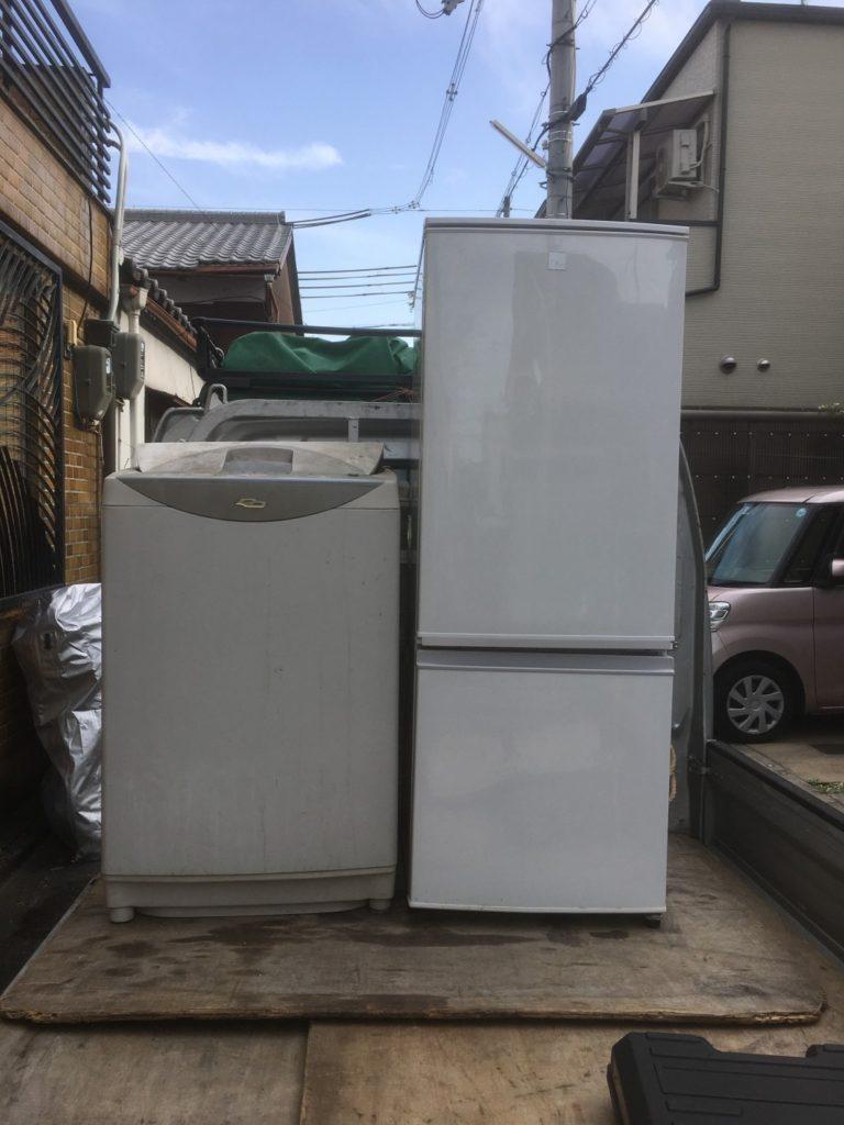 【京都市】冷蔵庫と洗濯機回収のご依頼☆リピーター様より今回も頼んでよかったと喜んでいただくことができました。