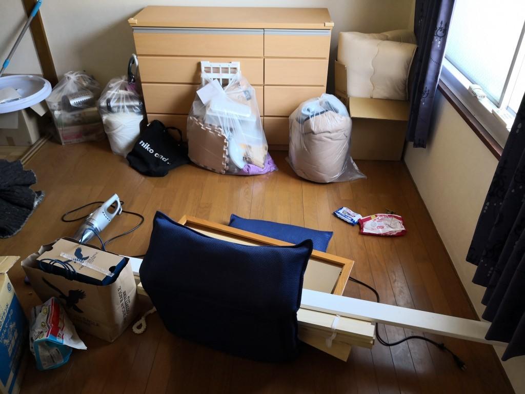 【門真市野里町】引っ越しに伴う不用品処分☆荷物の移動も同時施工できお喜びいただけました!