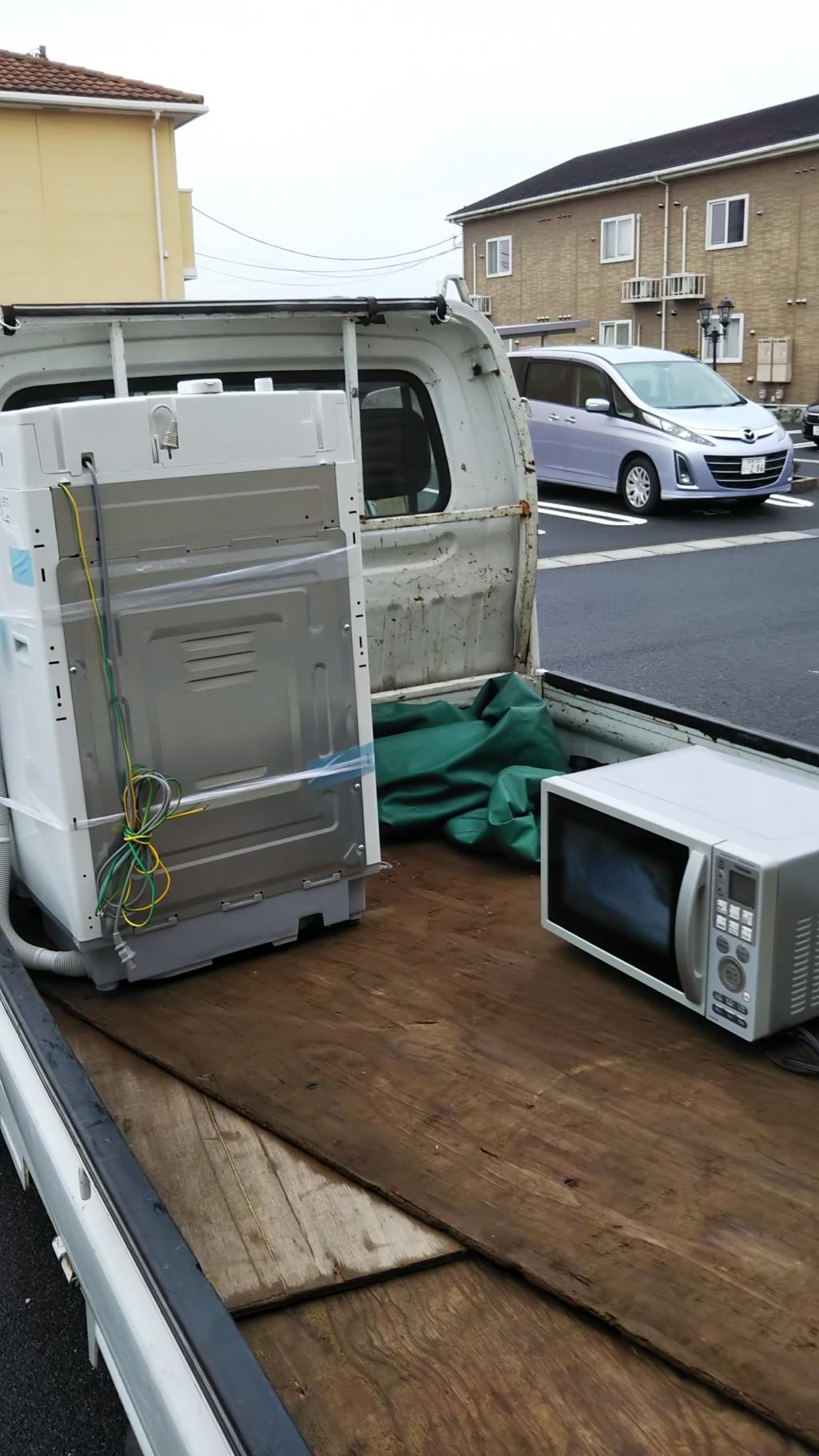 【出雲市斐川町】洗濯機と電子レンジの回収 お客様の声