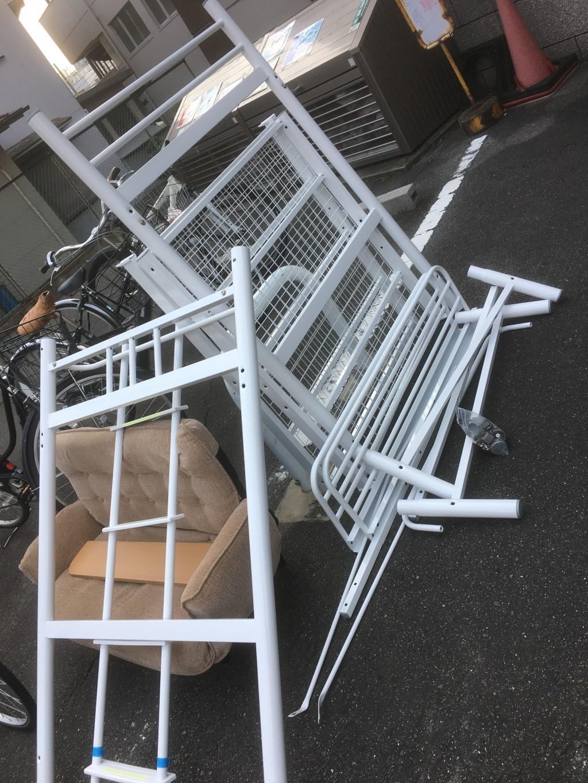 【京都市伏見区】ロフトベッドとソファー回収のご依頼☆処分しづらい品をお任せできお喜びいただけました!