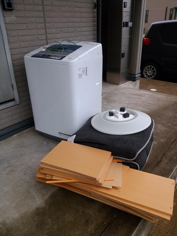 【福井市】洗濯機や座椅子の不用品処分・回収のご依頼 お客様の声